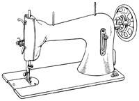 11380568-Sewing-machine-isolated-on-white-background-Stock-Vector-spool copy